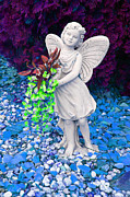Flowers Prints - Fantasy Fairy Print by Aimee L Maher