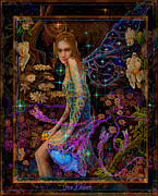 Pic Painting Posters - Fantasy Fairy Princess Poster by Steve Roberts