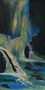 Storybook Paintings - Fantasy Falls by Donna Blackhall