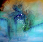 Large Abstract Acrylic Paintings - Fantasy Falls by Tamara Bettencourt