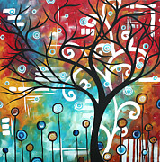 Tree Blossoms Paintings - Fantasy Forest by MADART by Megan Duncanson
