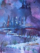 Eerie Paintings - Fantasy Fortress by Pat O Neill