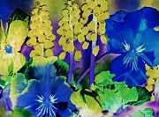 Inverted Color Prints - Fantasy Garden Print by Eloise Schneider