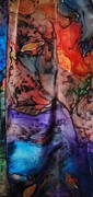 Vibrant Tapestries - Textiles Prints - Fantasy Print by Julia Shapiro