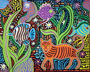 Fantasy Landscape Print by Susan Woodward