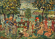 Famous Artists - Fantasy by Maurice Brazil Prendergast