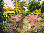Gardenscape Paintings - Fantasy Pathway by David Lloyd Glover