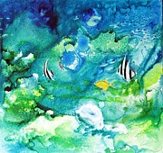 Anemones Paintings - Fantasy Sea by Joan Hartenstein