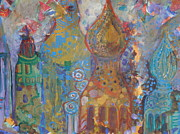 Onion Domes Paintings - Fantasy Square by Norma Malerich