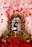 Fantasy Valentine Girl Print by Amanda Struz