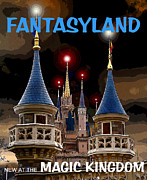 Cinderellas Castle Prints - Fantasyland 2012 Print by David Lee Thompson