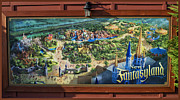 Magic Kingdom Photographs Prints - Fantasyland Billboard Walt Disney World Print by Thomas Woolworth