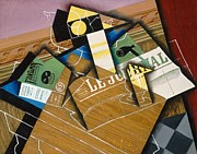 Yellow Line Prints - Fantomas Print by Juan Gris