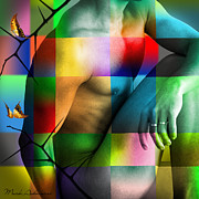 Nudes Digital Art Prints - Far Away From Heaven  Print by Mark Ashkenazi