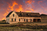 Abandoned Houses Prints - Far Away Sunrise Print by Tim Reaves