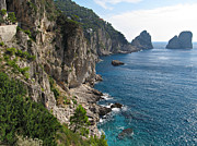Panoramic Marina Framed Prints - Faraglioni Rock formation on island Capri Framed Print by Kiril Stanchev