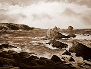 Andrew Paintings - Faraid Head Durness Scotland by Andrew Read