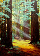 Serenity Landscapes Paintings - Farewell  Bend         by Shasta Eone