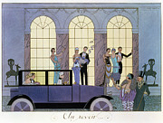 Society Paintings - Farewell by Georges Barbier