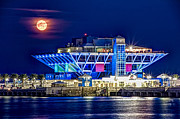 St Pete Prints - Farewell Moon Print by Marvin Spates