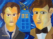 Tardis Framed Prints - Farewell To Doctor Who Framed Print by Christina Schott