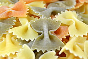 Italian Meal Framed Prints - Farfalle Pasta  Framed Print by Blanchi Costela