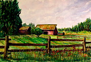 Wa Paintings - Farm 5 by Stephen Abbott