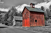 Shed Posters - Farm - Barn - Weathered Red Barn Poster by Paul Ward