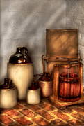 Jugs Photo Prints - Farm - Bottles - Lets make some  apple juice Print by Mike Savad