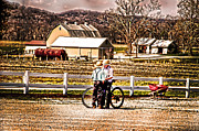 Farm Life Framed Prints Prints - Farm Boys Country Exchange Print by Randall Branham