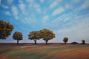 Indiana Art Painting Prints - Farm Print by DC Decker