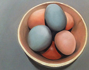 Pastel Paintings - Farm Eggs by Cristine Kossow