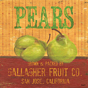 Pears Posters - Farm Fresh Fruit 1 Poster by Debbie DeWitt
