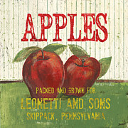 Apple Prints - Farm Fresh Fruit 3 Print by Debbie DeWitt