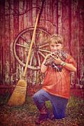 Farm Girl Print by Danilo Piccioni