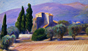 Mountainscape Posters - Farm House in Provence Poster by William James Glackens