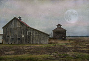Manipulated Framed Prints - Farm in Kalispell Montana Framed Print by Juli Scalzi