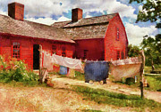 Housekeeper Prints - Farm - Laundry - The Clothes Line Print by Mike Savad