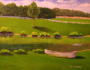 Patrick ODriscoll - Farm Pond oil painting