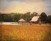 Autumn Landscape Art - Farm Refuge by Jai Johnson
