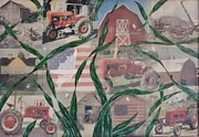 Tractors Mixed Media - Farm Roots by Donna Jean Carver