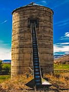 Farm Photography Prints - Farm Silo Print by Robert Bales