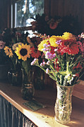 Zinnias Photos - Farm Stand by Caitlyn  Grasso