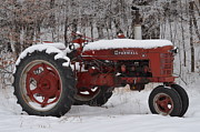 Winter Landscapes Photos - Farm Tractor by Janelle Streed