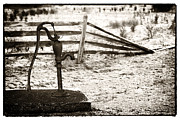Old Water Pump Prints Prints - Farm Water Print by John Rizzuto