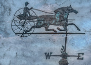 Weathervane Digital Art Prints - Farm Weathervane Print by Randy Steele
