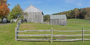 Gregory House Art - Farm with Split Rail Fence 1 of 2 by Gregory Scott