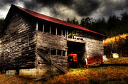 Tin Roof Posters - Farmall Barn Poster by Greg and Chrystal Mimbs