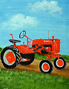 Farmall Cub Framed Prints - Farmall Cub Tractor Framed Print by Darlene Prowell