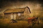 Randall Nyhof - Farmall Tractor by a Barn for Sale